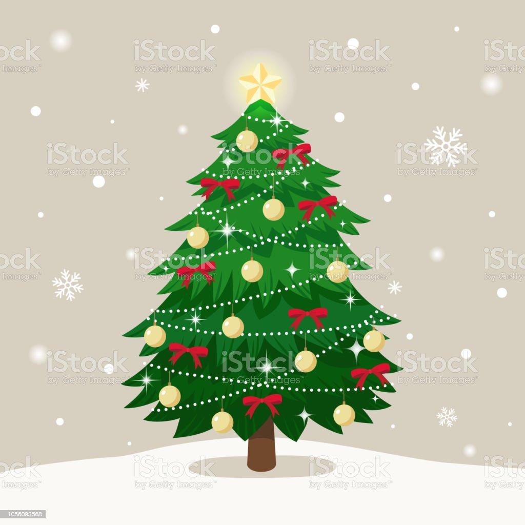 Christmas tree on snow falling backgroundmerry christmas greeting christmas tree on snow falling backgroundrry christmas greeting card royalty free christmas tree m4hsunfo