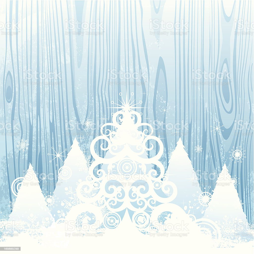 Christmas tree on the old wood royalty-free christmas tree on the old wood stock vector art & more images of abstract