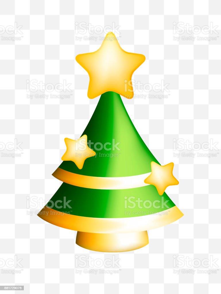 Christmas Tree Transparent Background.Christmas Tree On Transparent Background Stock Illustration