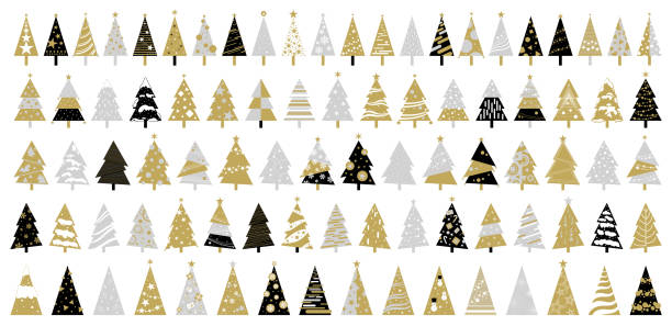 ilustrações de stock, clip art, desenhos animados e ícones de christmas tree on white background vector illustration - christmas tree