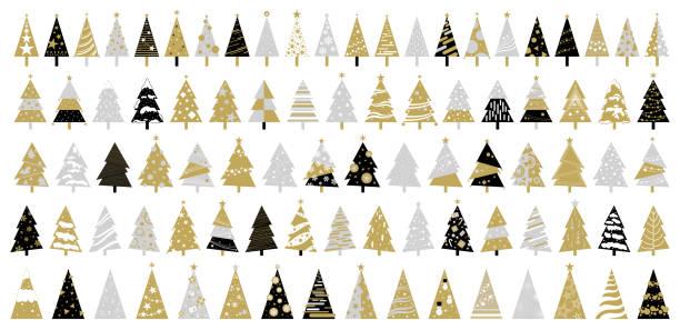 Weihnachtsbaum auf weißem Hintergrund Vektor-Illustration – Vektorgrafik