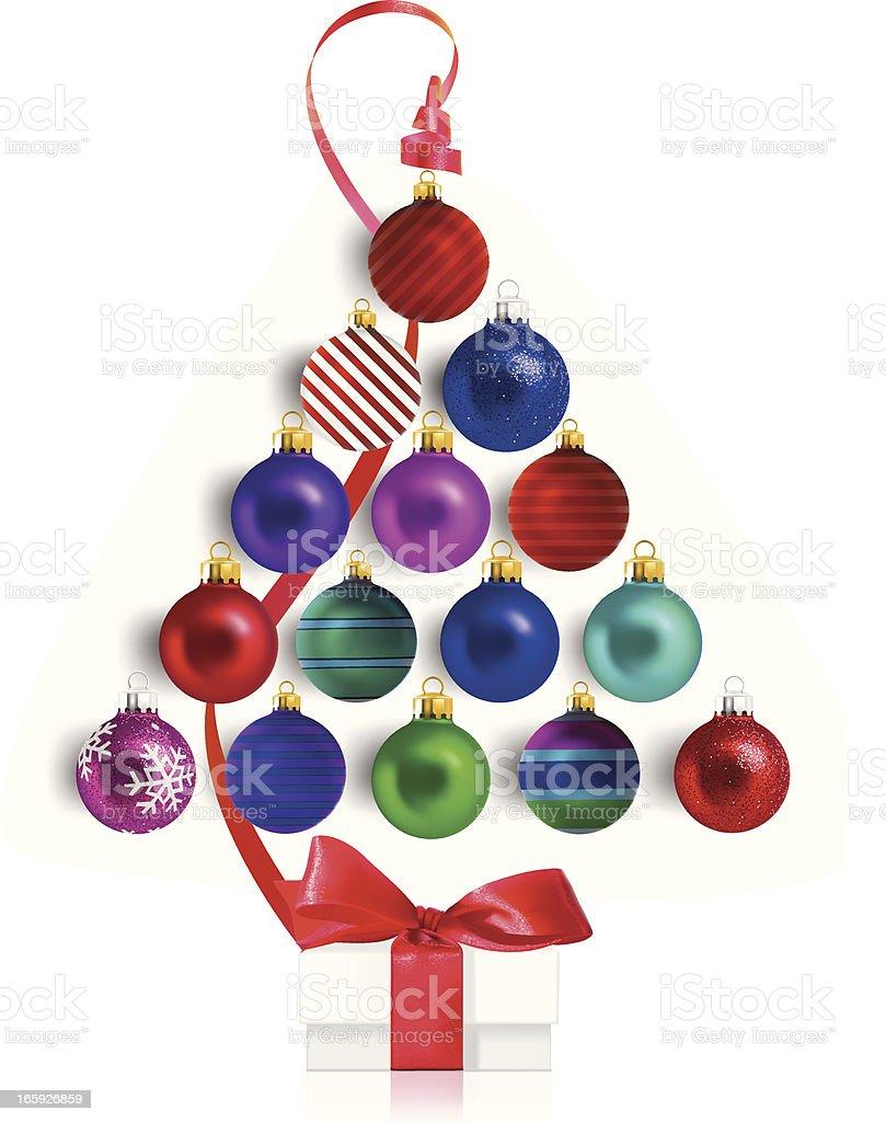 Christmas Tree Ornaments royalty-free stock vector art