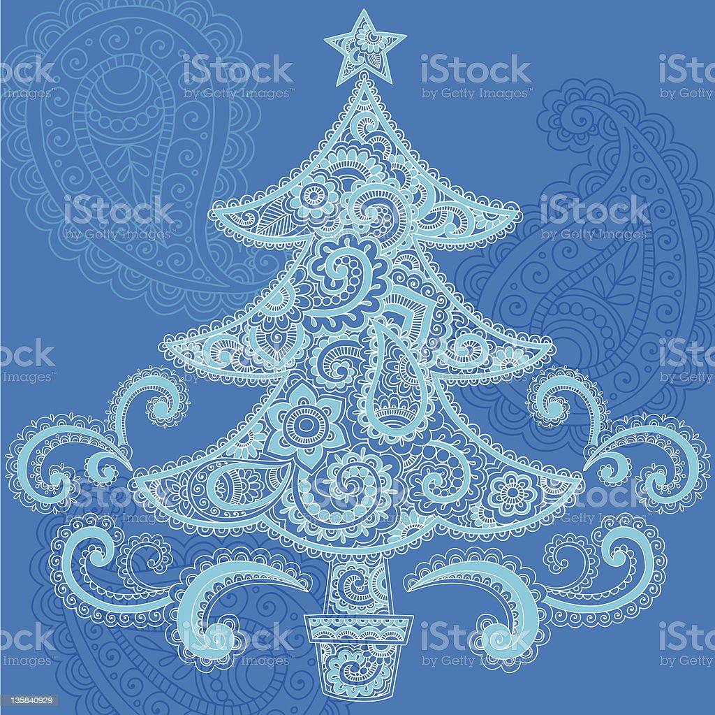 Disegni Di Natale Vettoriali.Albero Di Natale Vettoriali Di Disegni E Schizzi Mehndi Paisley