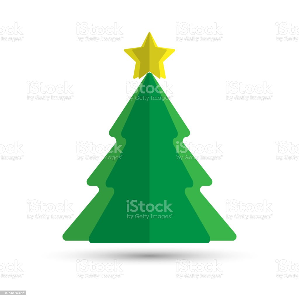 christmas tree. paper christmas tree with a star. paper toy christmas...