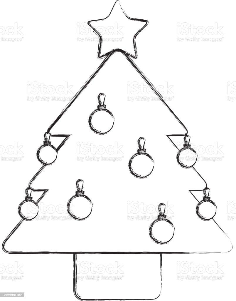Sterne Für Weihnachtsbaum.Weihnachtsbaum Kiefer Sterne Kugel Dekoration Ornament Design Stock