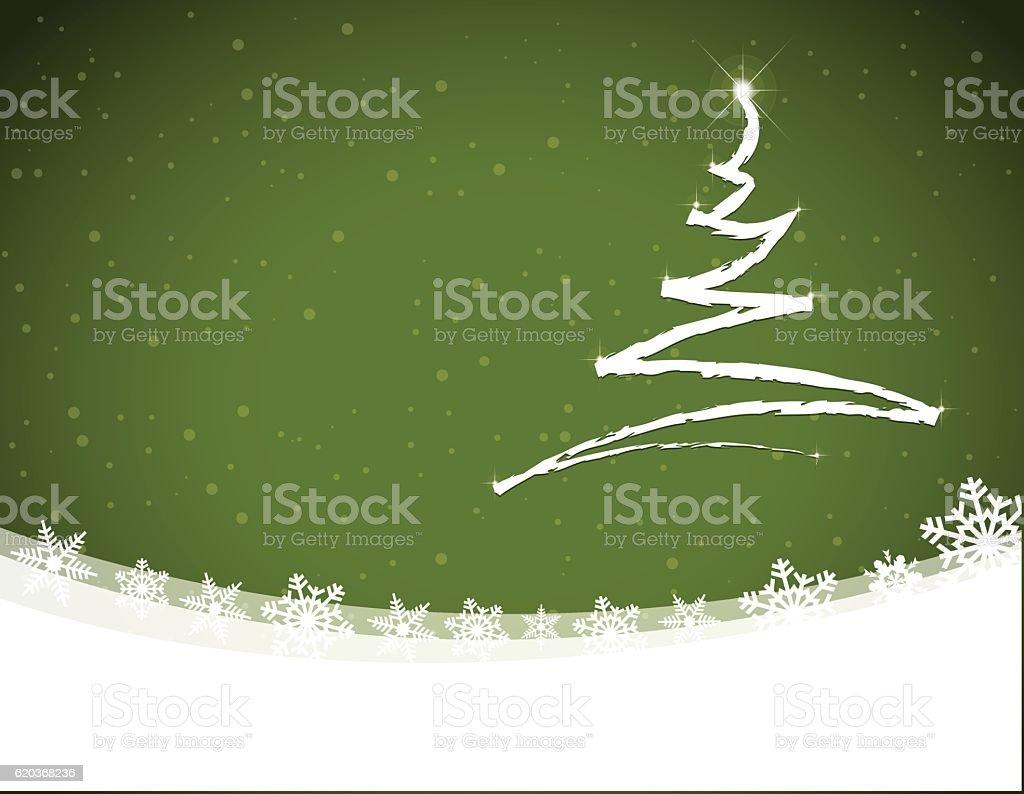 Christmas tree scribbled on green snowing winter background at night christmas tree scribbled on green snowing winter background at night - stockowe grafiki wektorowe i więcej obrazów biały royalty-free