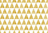 Christmas tree seamless pattern background. - Illustration