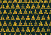 Christmas tree seamless pattern background. - Illustration