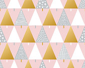 Christmas tree seamless pattern background. Stock illustration