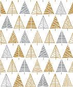 istock Christmas tree seamless pattern background. 1175684469