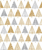 Christmas tree seamless pattern background. Stock illustration