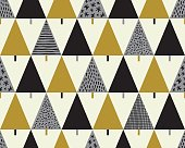 Christmas tree seamless pattern background