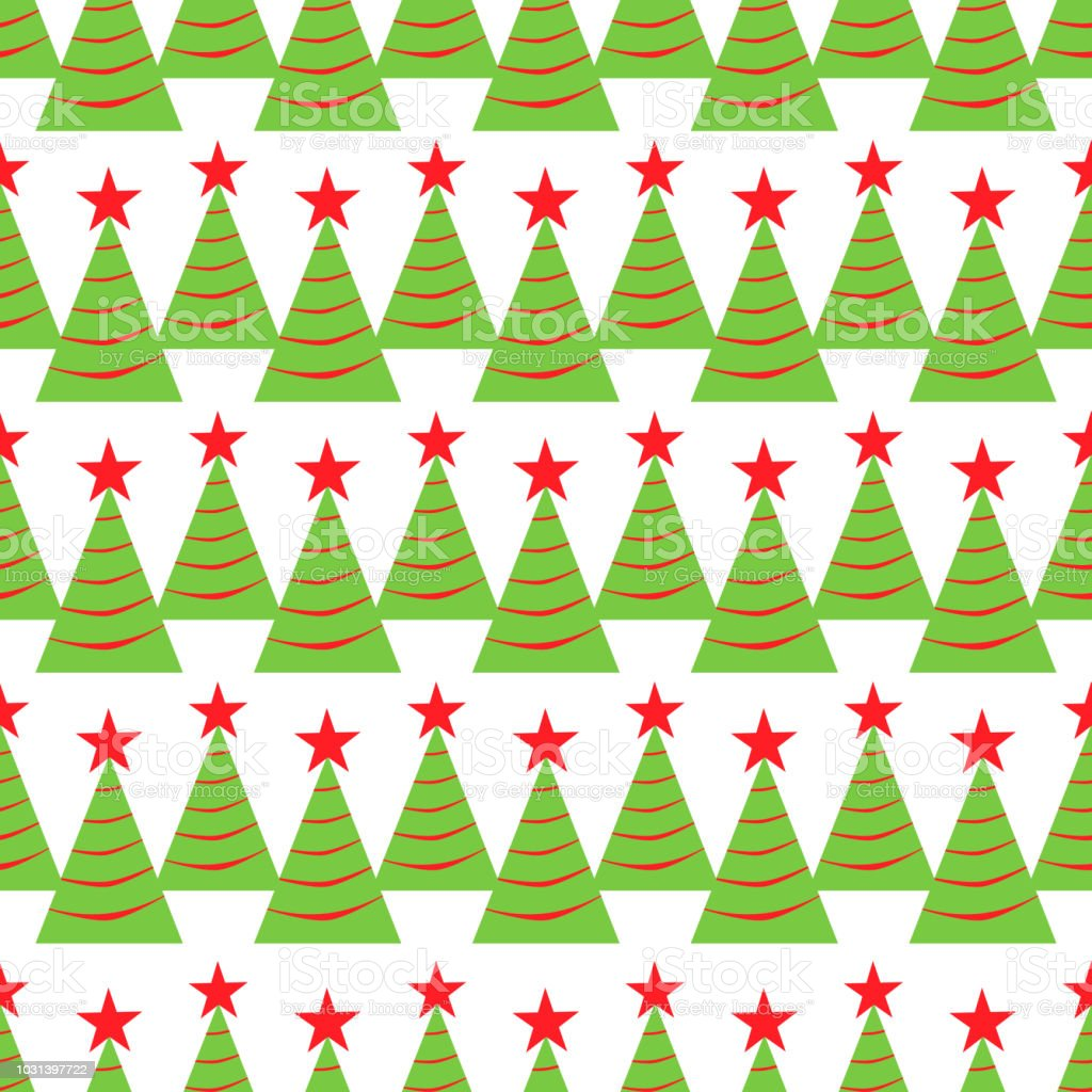 Christmas Tree seamless pattern. Winter holidays background. repeated texture for wrapping paper, xmas and New Year decoration. vector illustration. vector art illustration