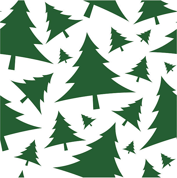 Christmas tree seamless vector wallpaper vector art illustration