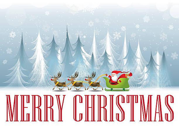 Christmas tree seasonal greeting card – Vektorgrafik