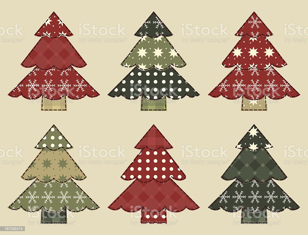 Christmas tree  set 3 royalty-free christmas tree set 3 stock vector art & more images of abstract