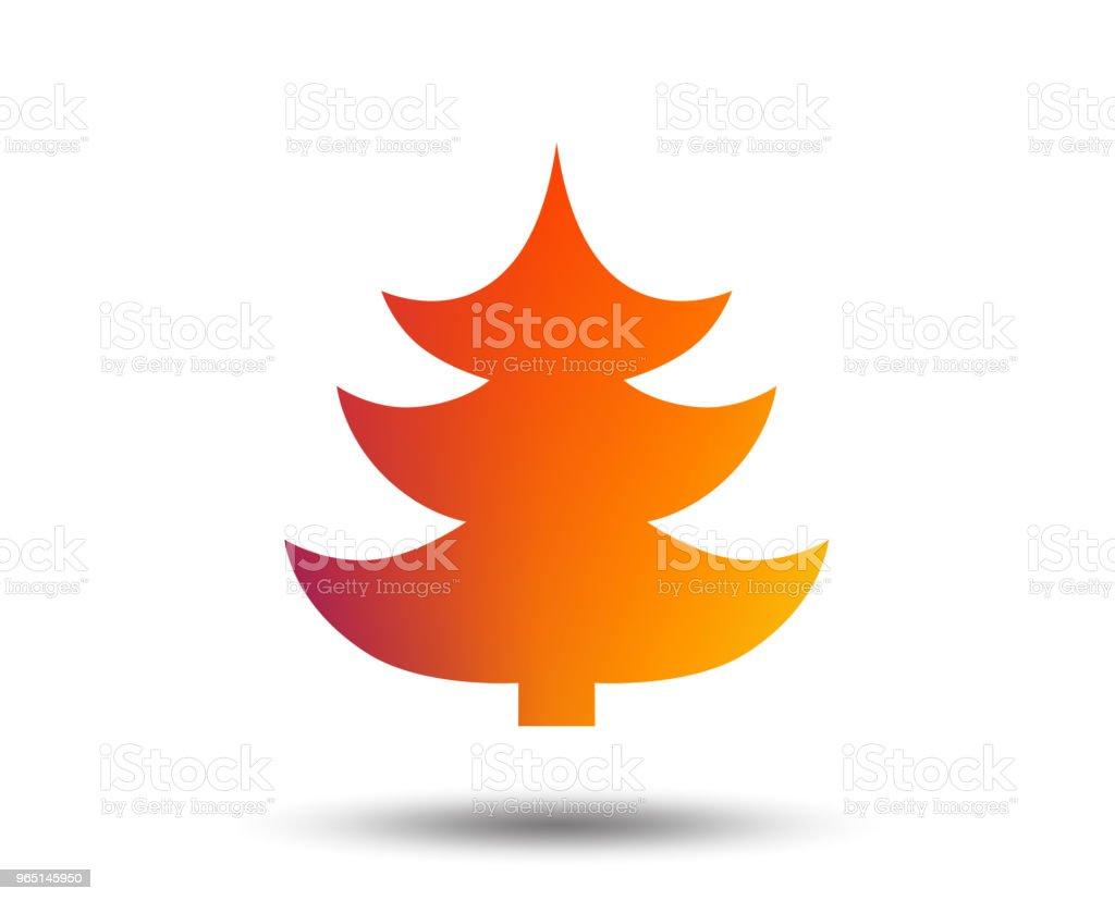 Christmas tree sign icon. Holidays button. christmas tree sign icon holidays button - stockowe grafiki wektorowe i więcej obrazów aplikacja mobilna royalty-free