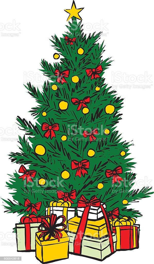Albero Di Natale Disegno Immagini Vettoriali Stock E Altre