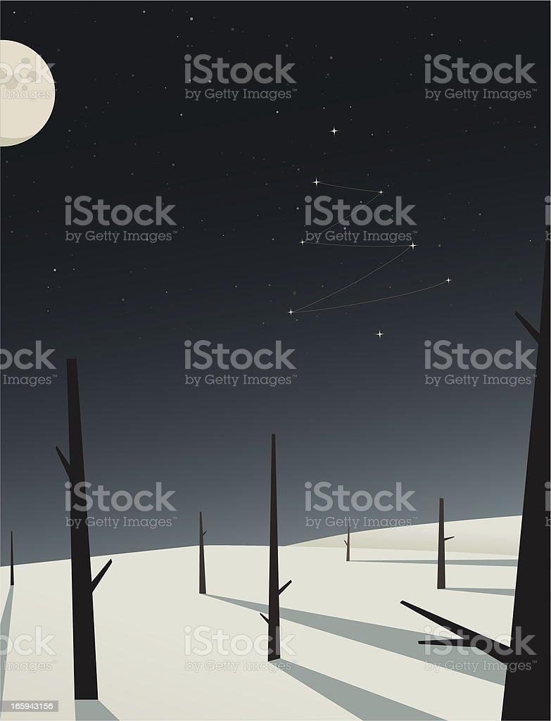 christmas tree star constellation royalty-free stock vector art