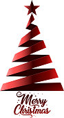 drawn of vector christmas tree icons.This file has been used illustrator cs3 EPS10 version feature of multiply.