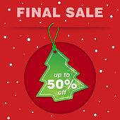 Christmas tree tag for sale.