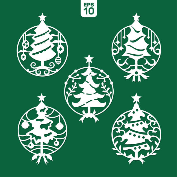 White House Laser Cut Christmas Ornaments 2021 Laser Cut Christmas 372 Free Vectors To Download Freevectors