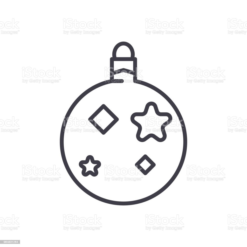 Christmas tree toy black icon concept. Christmas tree toy flat  vector symbol, sign, illustration. royalty-free christmas tree toy black icon concept christmas tree toy flat vector symbol sign illustration stock vector art & more images of abstract