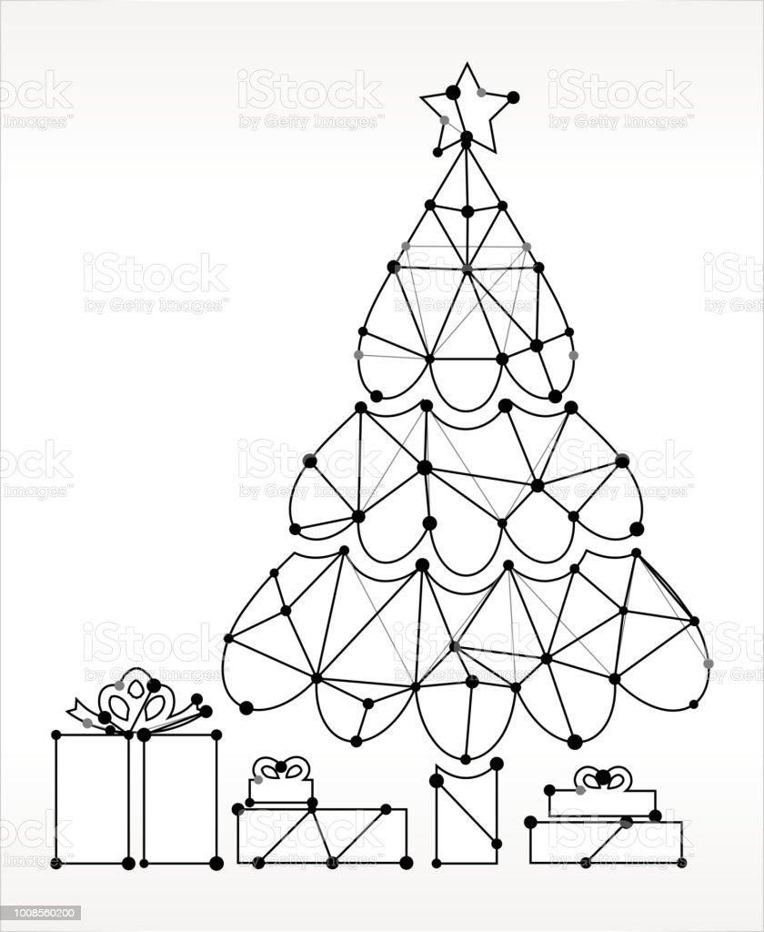 Weihnachtsbaum Schwarz Weiß.Weihnachtsbaum Dreiecksmuster Knoten Schwarz Weiß Stock Vektor Art Und Mehr Bilder Von Dreieck