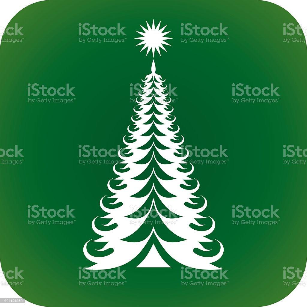 Christmas tree V vector art illustration