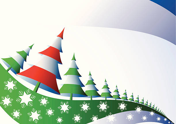 Christmas tree vector art illustration vector art illustration