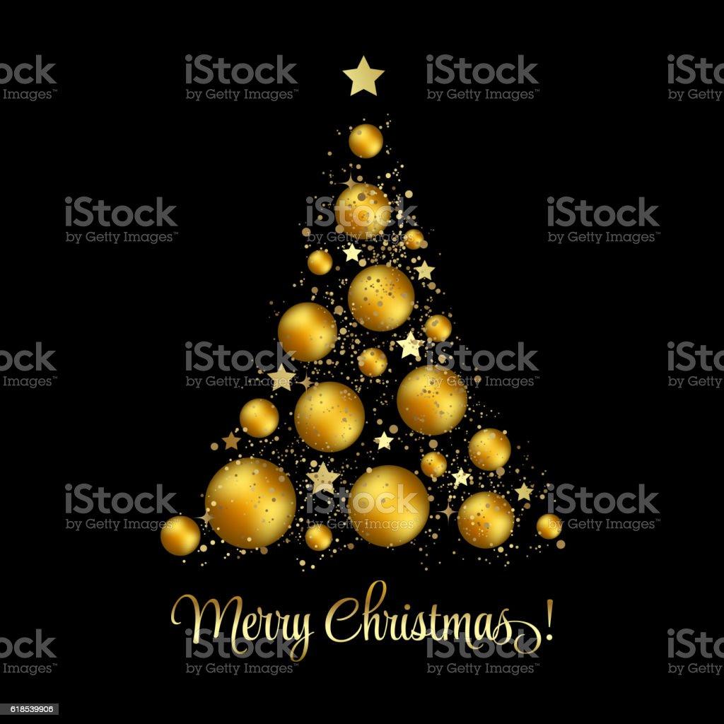Weihnachtsbaum Vektor Begrüßung Stock Vektor Art und mehr Bilder von ...