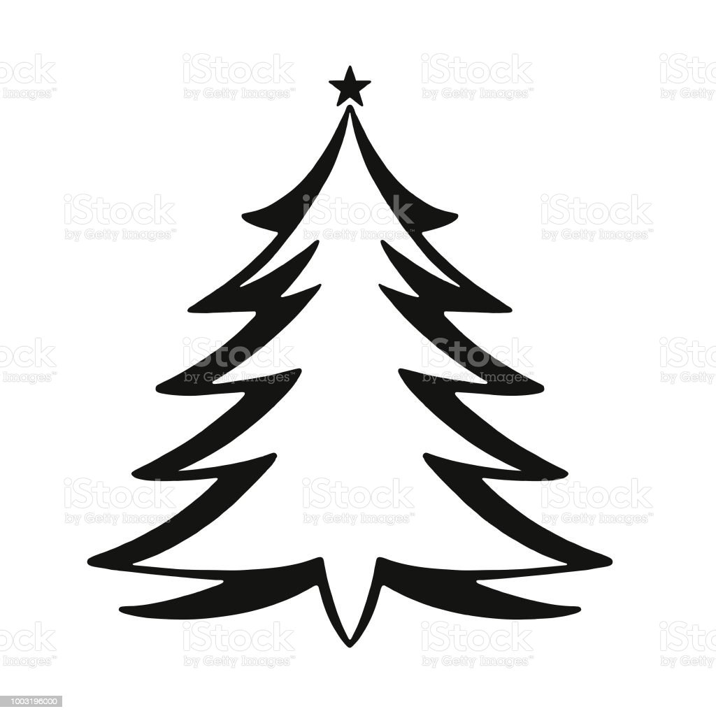 Christmas Tree Vector Image.Christmas Tree Stock Illustration Download Image Now