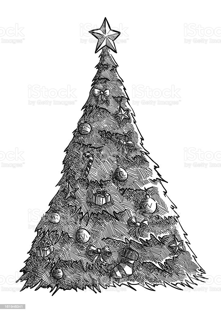 Christmas tree royalty-free christmas tree stock vector art & more images of bow tie