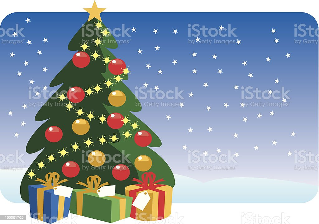 Christmas Tree royalty-free christmas tree stock vector art & more images of cartoon