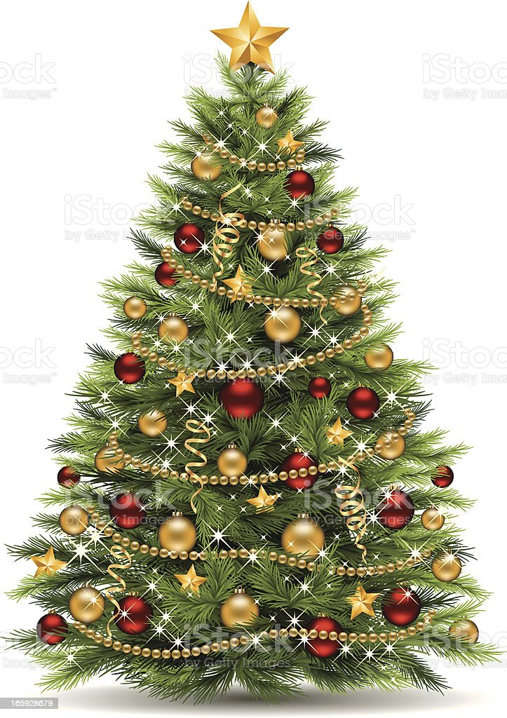 royalty free christmas tree clip art vector images illustrations rh istockphoto com Modern Christmas Tree Clip Art christmas tree images clip art