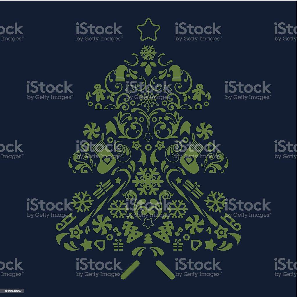 Christmas tree. royalty-free stock vector art