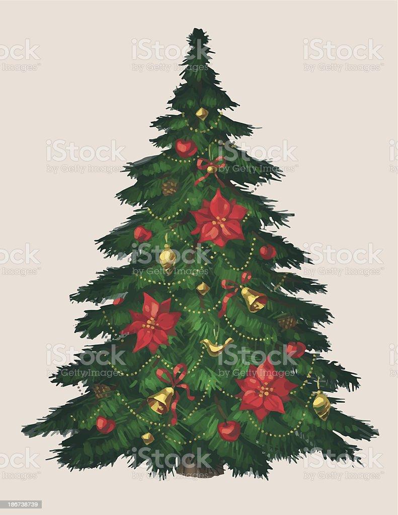 Christmas tree royalty-free stock vector art