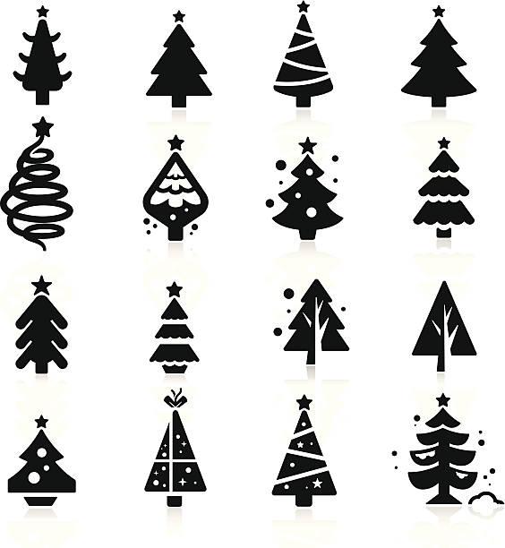 bildbanksillustrationer, clip art samt tecknat material och ikoner med christmas tree - ädelgran