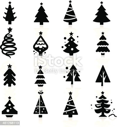 Christmas tree stock vector art more images of abstract - Silueta arbol de navidad ...