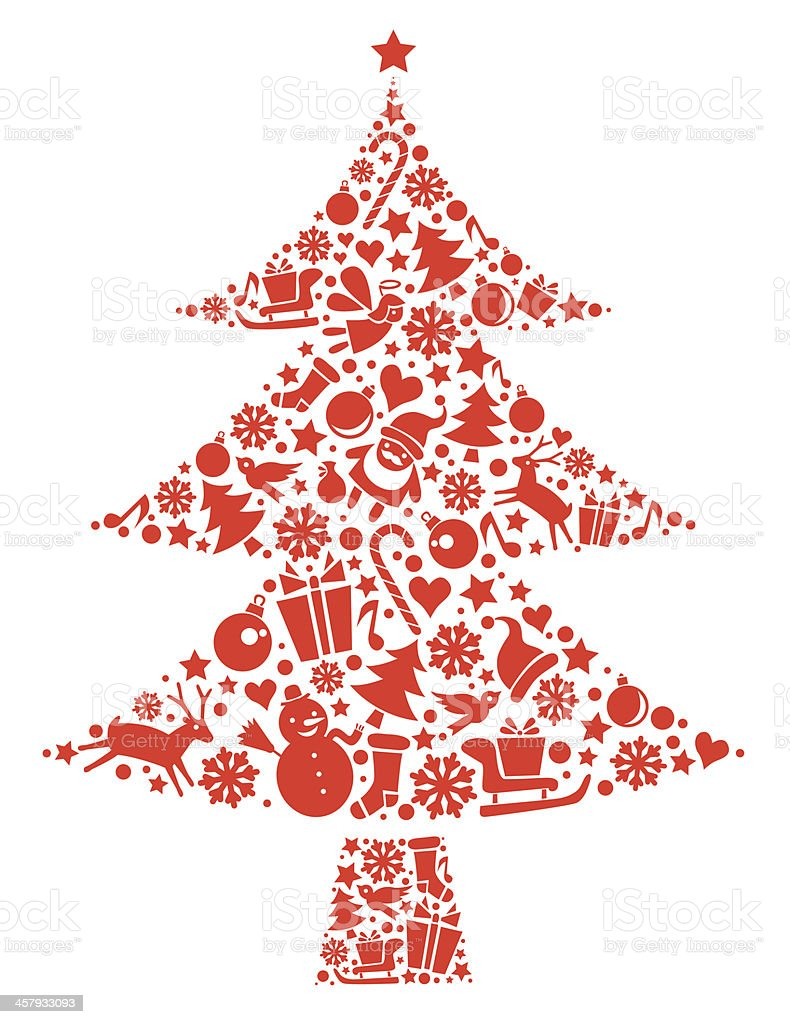 christmas tree stock vector art amp more images of