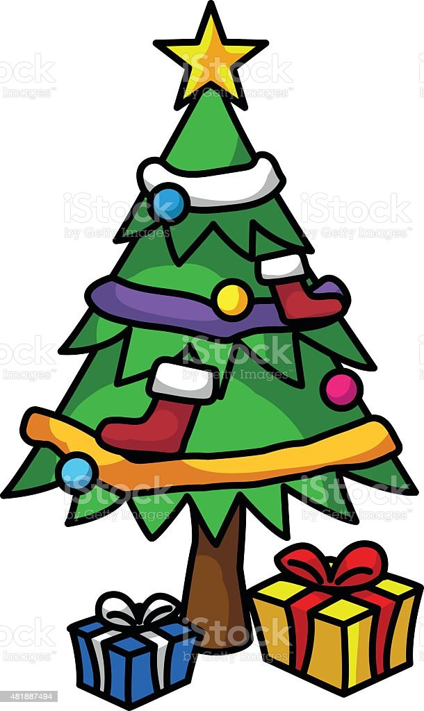 Christmas tree royalty-free christmas tree stock vector art & more images of 2015