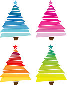 Colourful christmas tree. PDF file included.