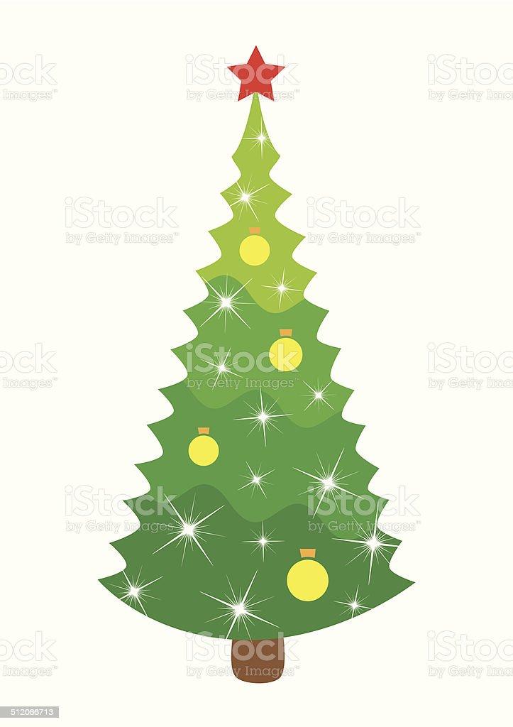 Christmas Weihnachtsbaum Vektor Illustration 512086713 | iStock