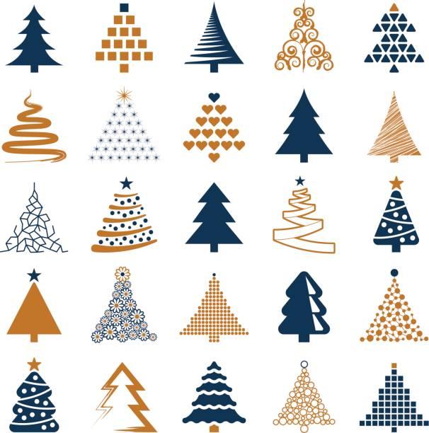 stockillustraties, clipart, cartoons en iconen met kerstboom - kerstboom