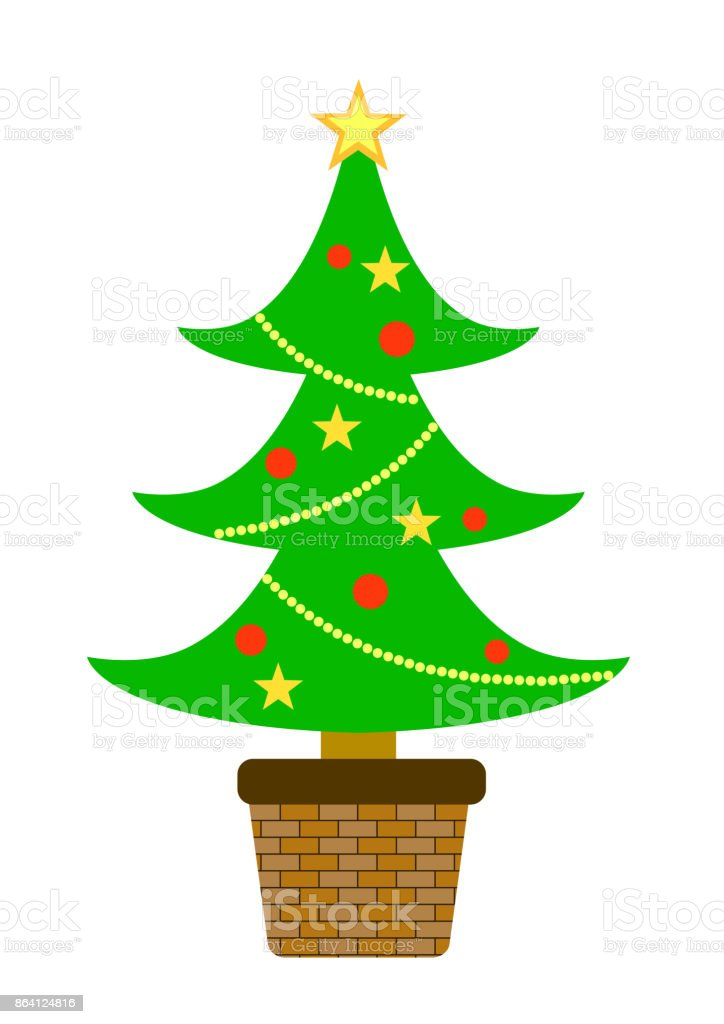 Christmas Tree royalty-free christmas tree stock vector art & more images of celebration event