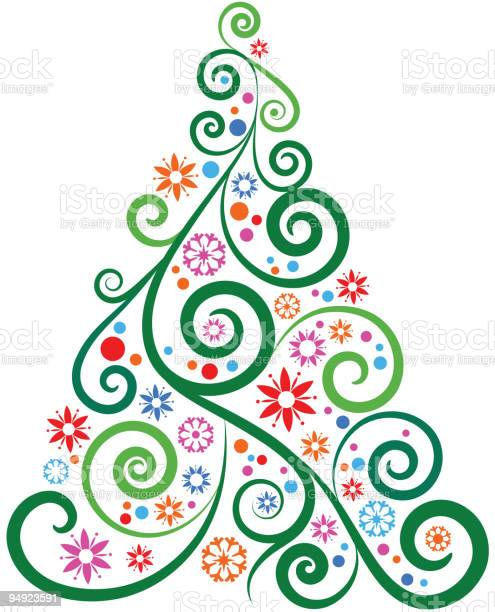Christmas Tree Stock Illustration - Download Image Now