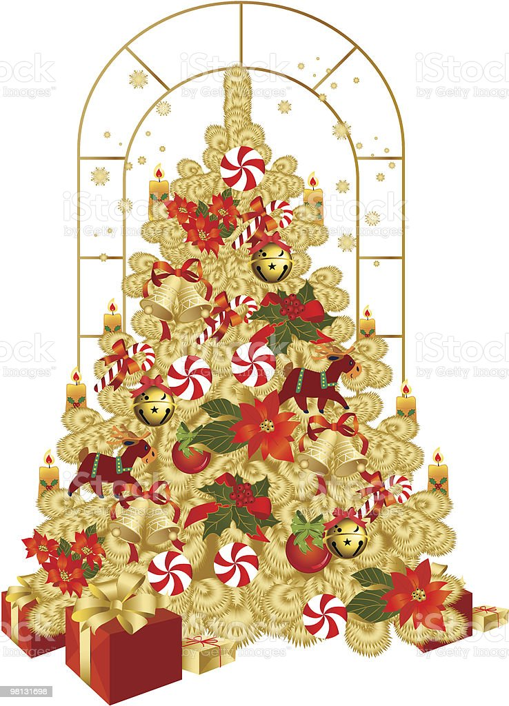 Christmas Tree. royalty-free christmas tree stock vector art & more images of bell