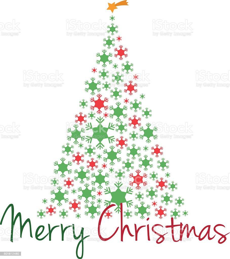 Immagini Vettoriali Natale.Albero Di Natale Illustrazione Vettoriale Con Testo Buon