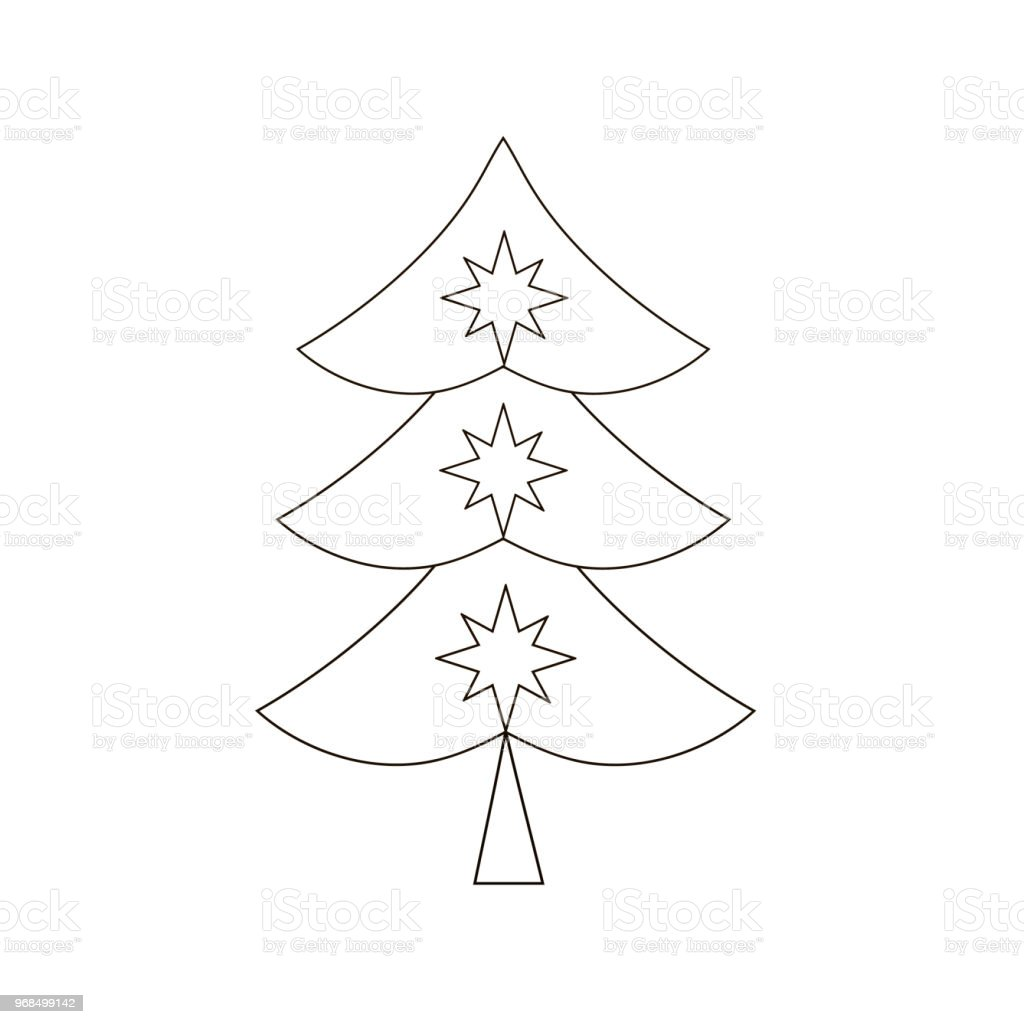 Christmas Tree With A Christmas Star Stock Illustration Download