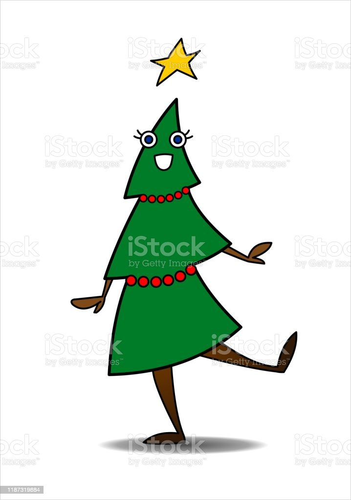 Christmas Tree With A Star Dancing Smiling Tree With Eyes Arms And Legs Cartoon Character Decorated Christmas Tree New Year Vector Illustration Isolated On A White Background Stock Illustration Download Image Mickey and pluto go out to get their christmas tree. christmas tree with a star dancing smiling tree with eyes arms and legs cartoon character decorated christmas tree new year vector illustration isolated on a white background stock illustration download image